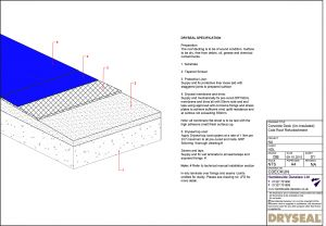 Dryseal Drawing Concrete Deck Cold Roof