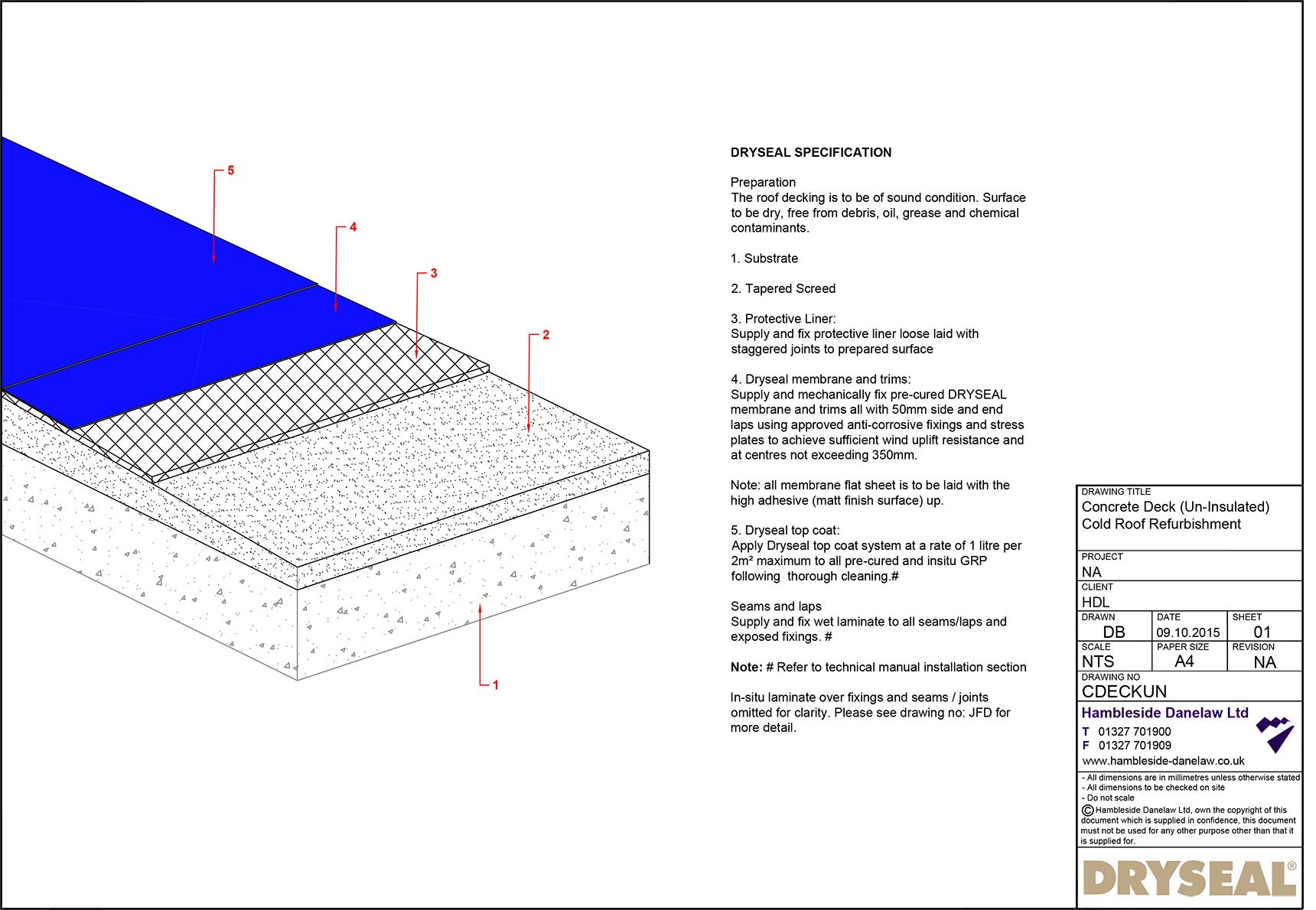Concrete Deck Cold Roof Hambleside Danelaw