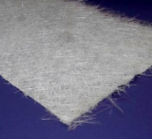 Glass fibre reinforcing mat photo