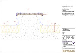 Dryseal Drawing Twin Kerb Expansion Joint