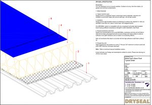 Dryseal Drawing Metal Deck Warm Roof
