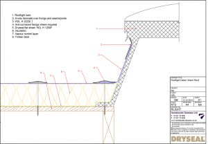 Dryseal Drawing Rooflight Detail