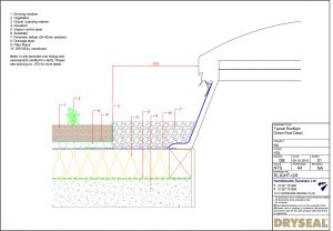 Dryseal Drawing Rooflight Green Roof
