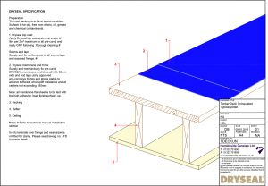 Dryseal Drawing Timber Deck Uninsulated
