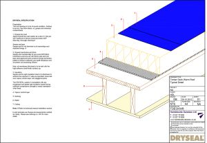 Dryseal Drawing Timber Deck Warm Roof