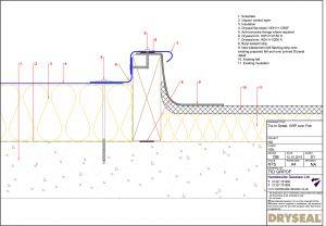 Dryseal Drawing Tie in Detail GRP Over Felt