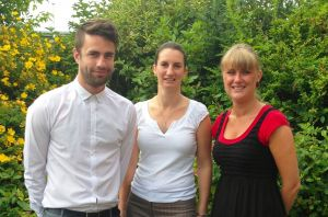 Left to right: Dom Preece, Suzie Munday and Robyn Sharpe