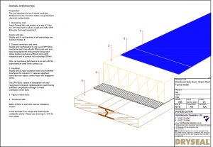 Dryseal Drawing Woodwool Slab Deck