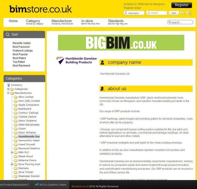 Dryseal BIM Components - Hambleside Danelaw