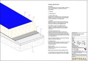 Dryseal Drawing Concrete Deck Warm Roof