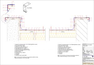 Ventilated Parapet Cold Roof Detail
