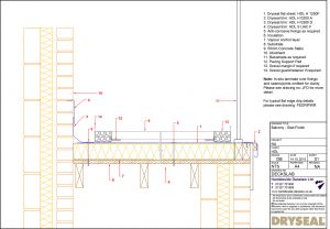 Dryseal Drawing Balcony Slab Finish