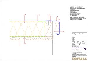 Dryseal Drawing Flat Edge or Drip Edge