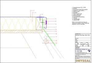 Dryseal Drawing Mansard Edge Detail Warm Roof