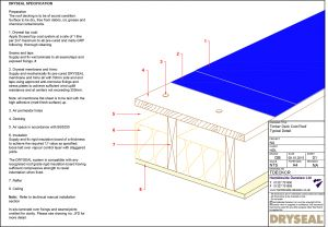 Dryseal Drawing Timber Deck Cold Roof