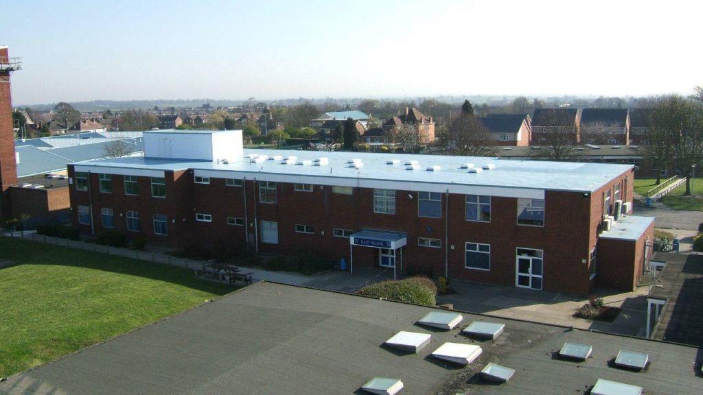 New Roof In School Colours Hambleside Danelaw