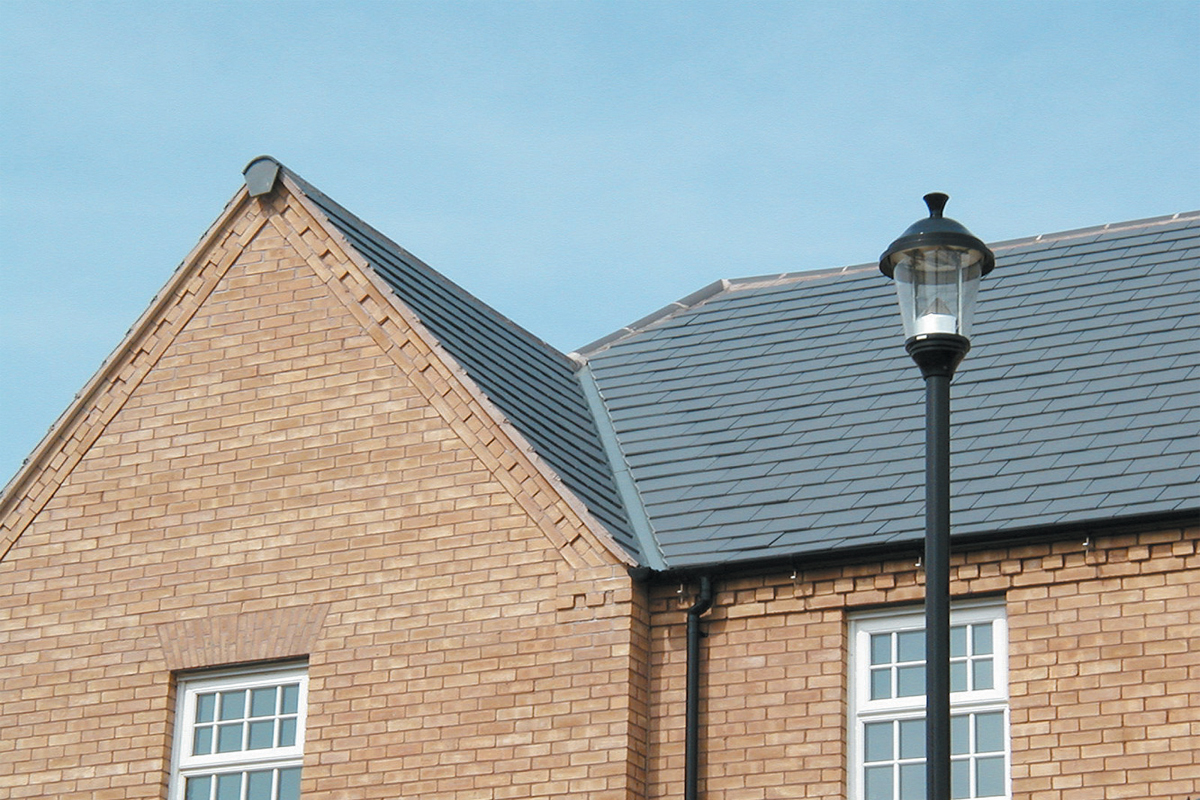 Danelaw Open Valley Slate Roof_Housing development