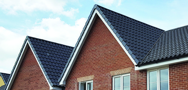 Slate Grey Interlocking Dry Verge System (HD IDV), Dry Fix Valley Trough (HDL DVT) and CON6+ Ventilated Ridge and Hip System